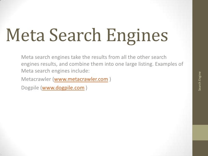 The Evolving Relation Between Meta Search Engines and ...