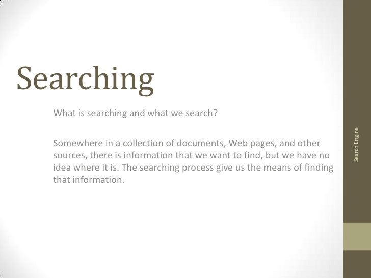 Searching What is ...