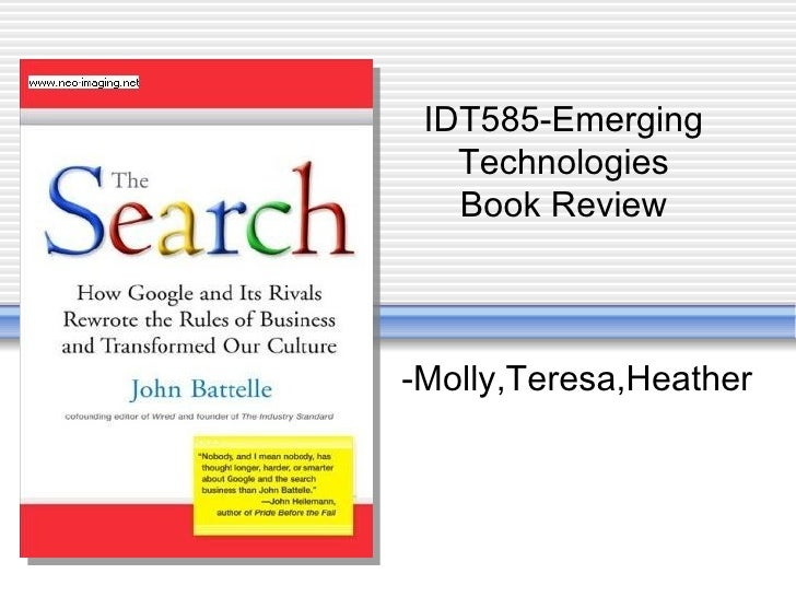 -Molly,Teresa,Heather IDT585-Emerging Technologies Book Review