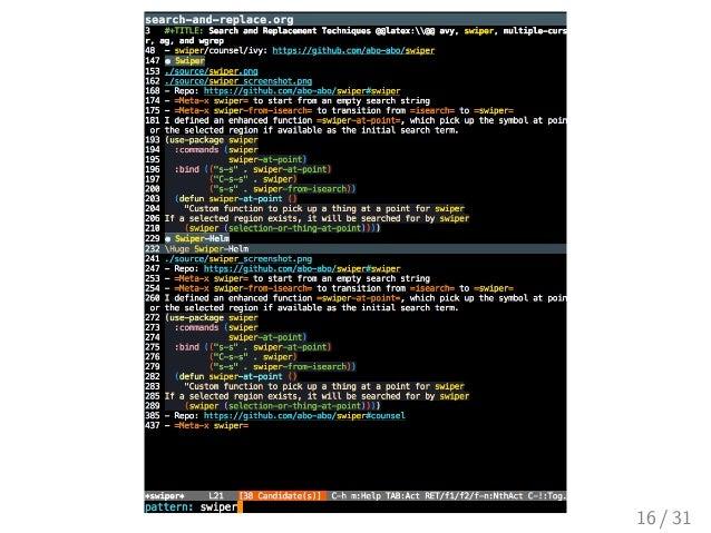 Emacs helm config