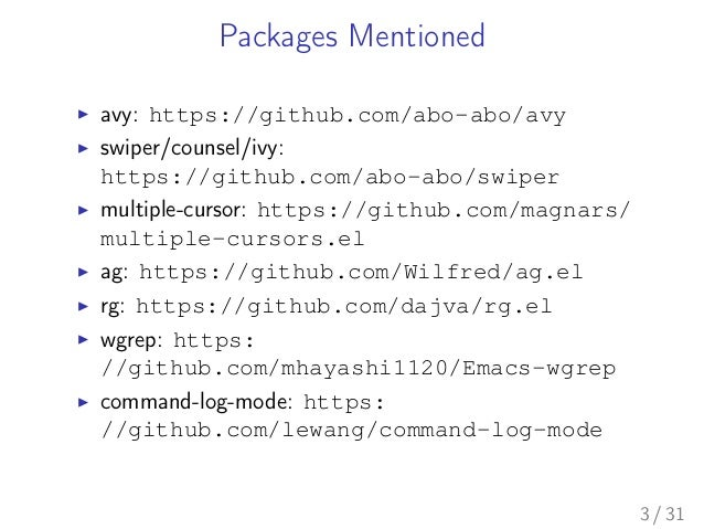 Search and Replacement Techniques in Emacs: avy, swiper, multiple-cur…