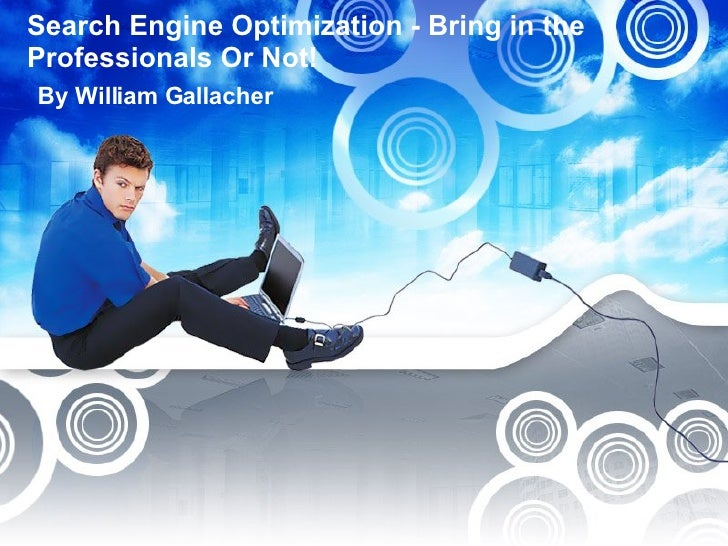Search Engine Optimization - Bring in the Professionals Or Not!  By William Gallacher
