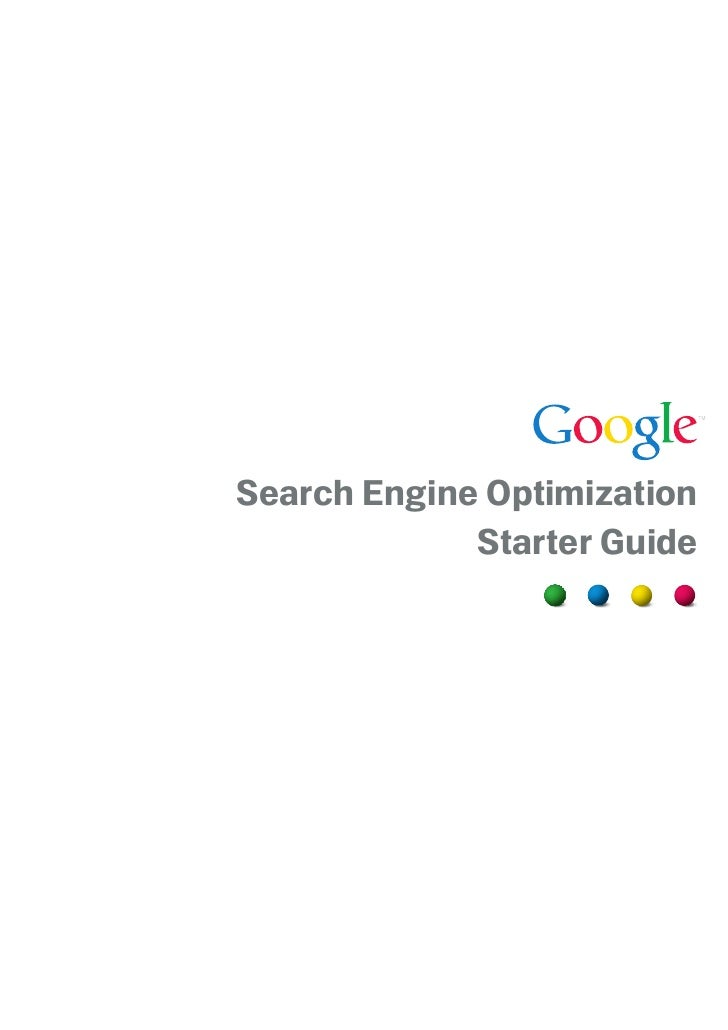 Search Engine Optimization Starter Guide