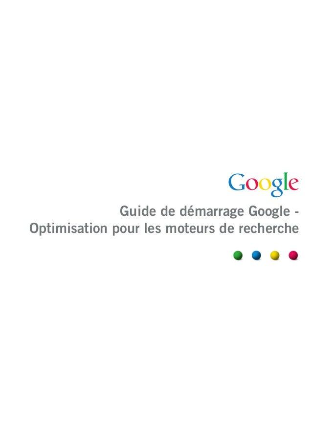 Guide de démarrage Google Optimisation pour les moteurs de recherche