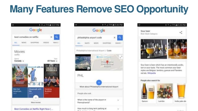 But, in 2017, There's Also More Feature Opportunity Than Ever Before You can do SEO to show up here And here