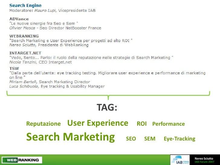 Search Marketing e User Experience per progetti ad alto ROI Slide 2