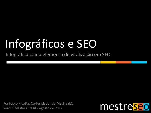 Infográficos e SEO Infográfico como elemento de viralização em SEO Por Fábio Ricotta, Co-Fundador da MestreSEO Search Mast...