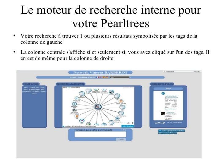 Le moteur de recherche interne pour votre Pearltrees <ul><li>Votre recherche à trouver 1 ou plusieurs résultats symbolisée...