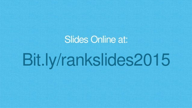 Search Ranking Factors in 2015 Slide 2