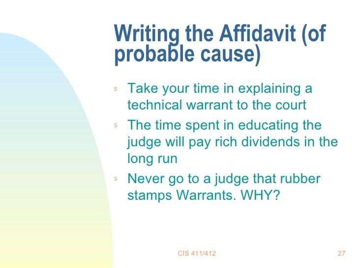 27 Writing The Affidavit