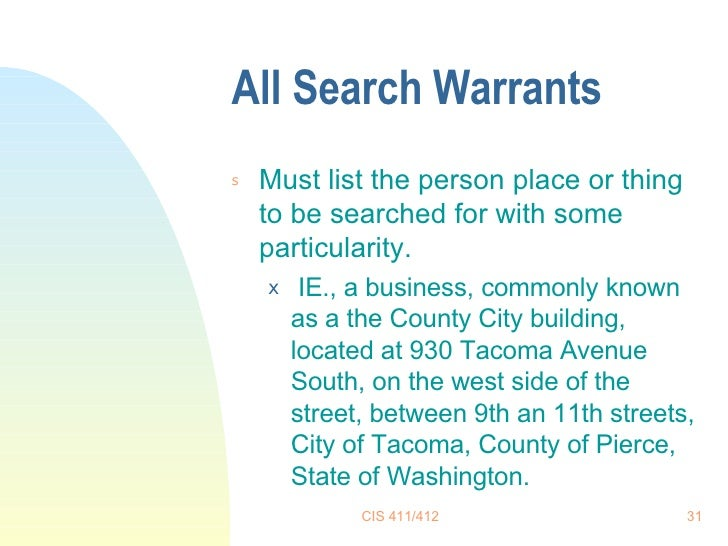 Warrants List