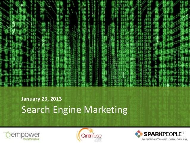 January 23, 2013Search Engine Marketing