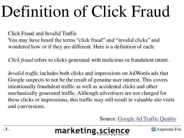 Definition Of Click Fraud ...
