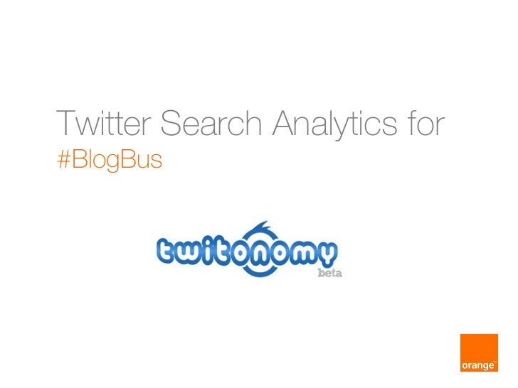 Twitter Search Analytics for#BlogBus