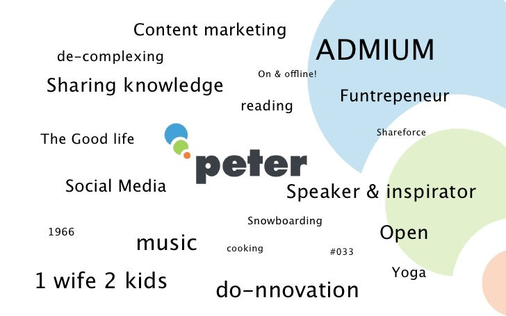 Content marketing  de-complexing                          ADMIUM                             On & offline! Sharing knowled...