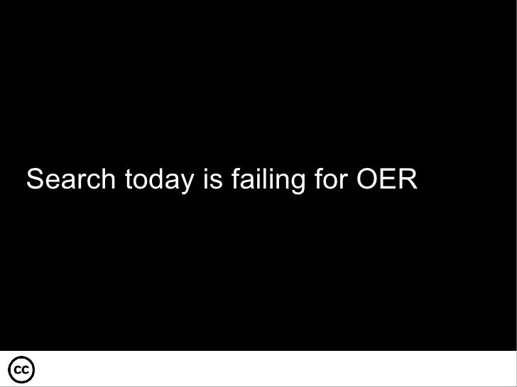 Search today is failing for OER