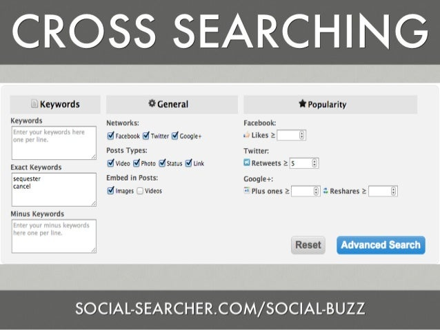 Social Media Search and Verification