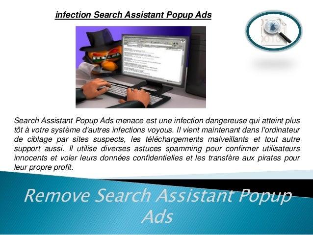 Retirer Search Assistant Popup Ads (Guide de suppression) Slide 2
