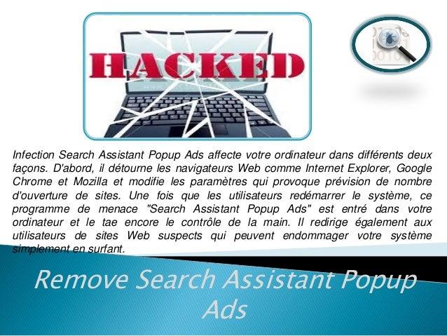 Retirer Search Assistant Popup Ads (Guide de suppression) Slide 3