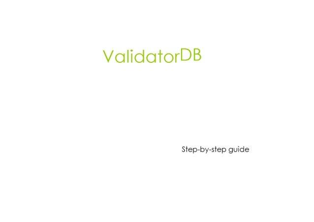 VcJ| idcJ'rorDB  Step-by-s'rep guide