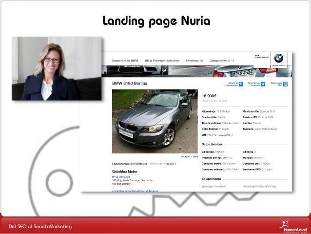 Landing page Nuria  Del SEO al Search Marketing