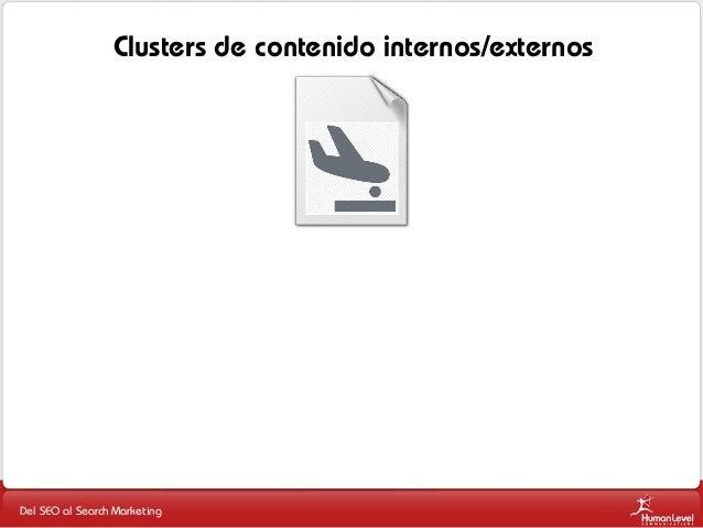 Clusters de contenido internos/externos  Del SEO al Search Marketing
