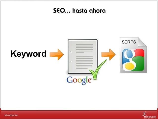 SEO... hasta ahora  SERPS  Keyword  introducción