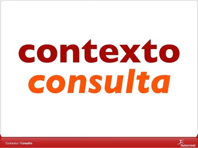 contexto consulta Contexto / Consulta