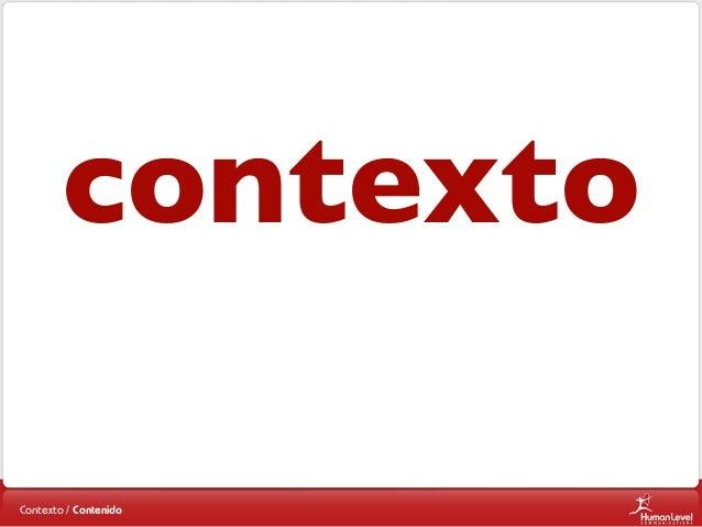 contexto Contexto / Contenido