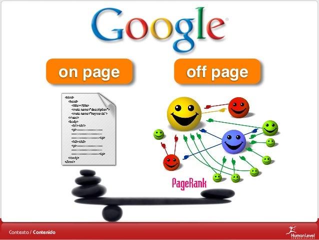 on page  Contexto / Contenido  off page