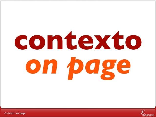 contexto on page Contexto / on page