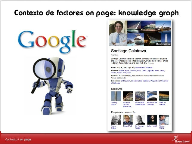 Contexto de factores on page: knowledge graph  Contexto / on page