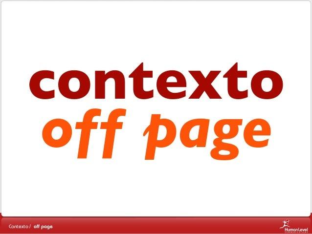contexto off page Contexto / off page