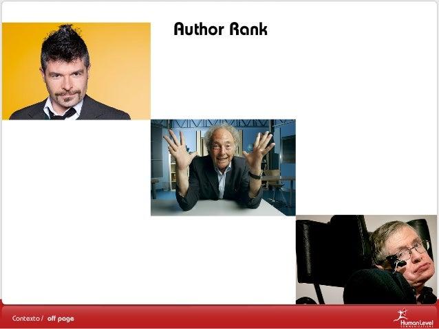 Author Rank  Contexto / off page