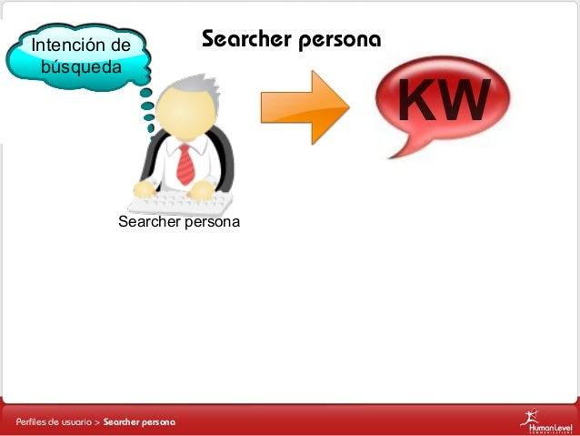 Intención de búsqueda  Searcher persona  Searcher persona  Perfiles de usuario > Searcher persona  KW