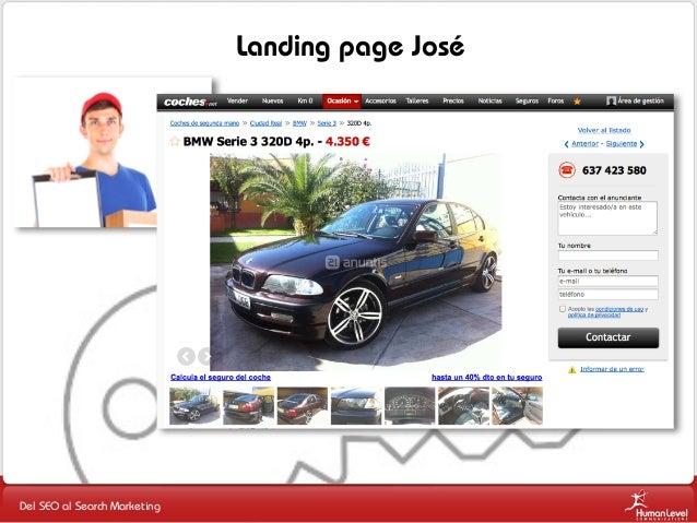 Landing page José  Del SEO al Search Marketing