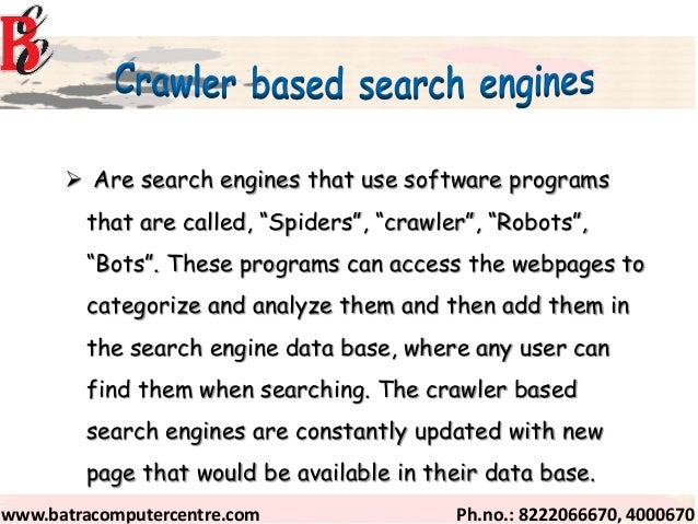 how to program a search engine