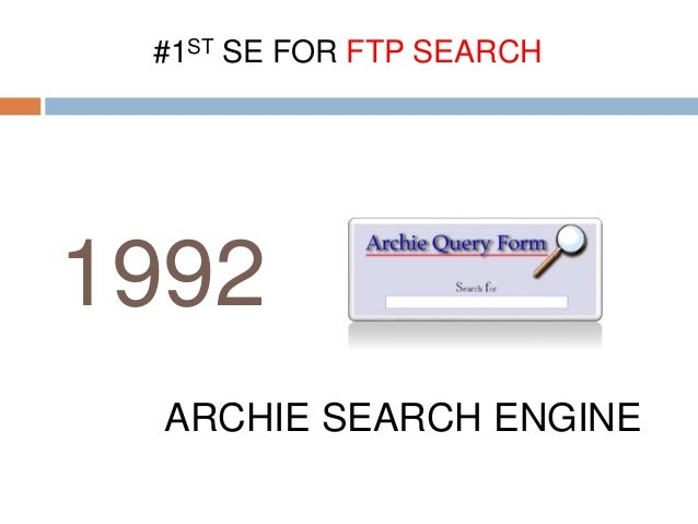 Search engine history - simple ppt
