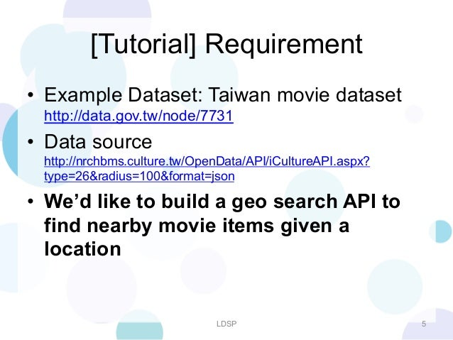 LDSP] Search Engine Back End API Solution for Fast Prototyping