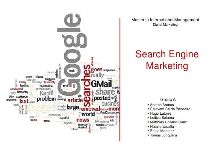 Master in International Management           Digital Marketing      Search Engine    Marketing                  Group A   ...