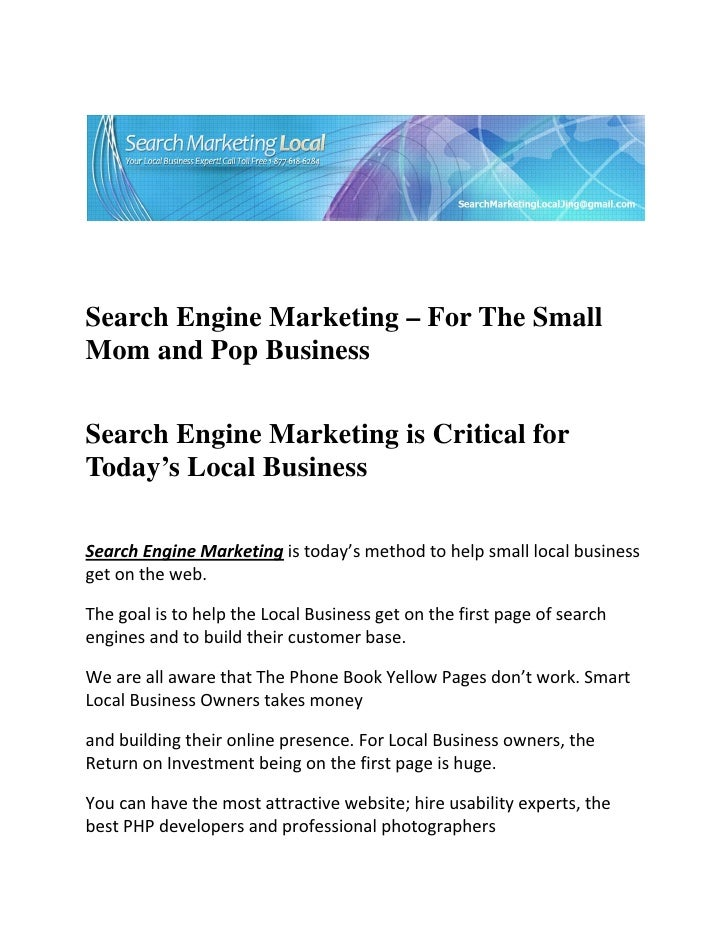 Search Engine Marketing – For The SmallMom a...