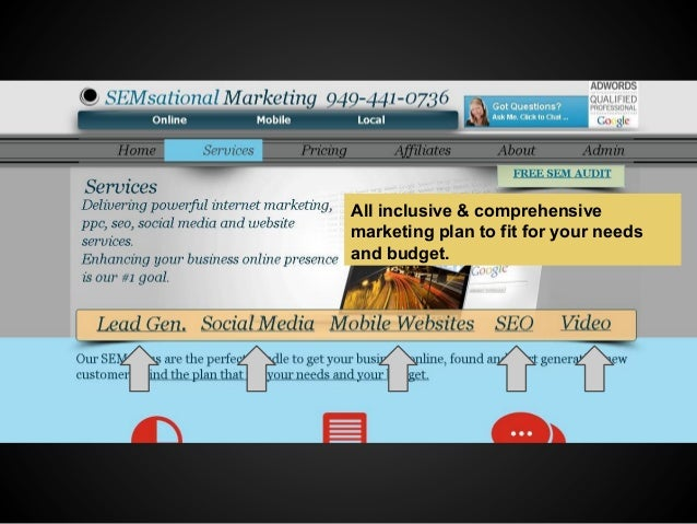 All inclusive & comprehensive marketing plan to fit for your needs and budget.