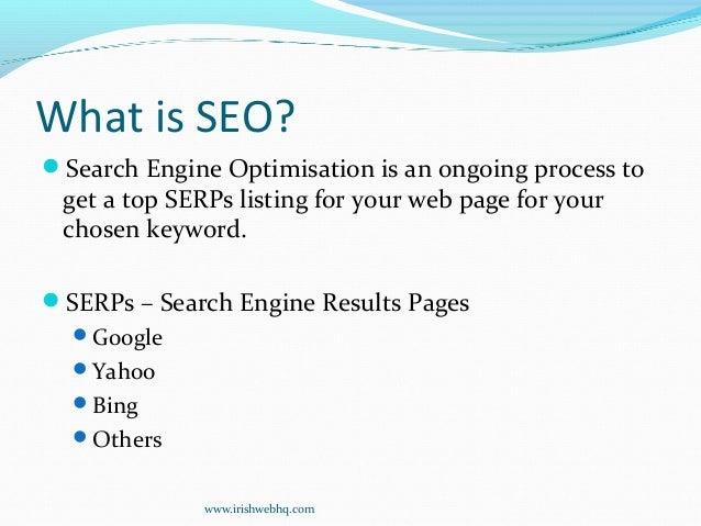 Search Engine Optimisation for Beginners Slide 2