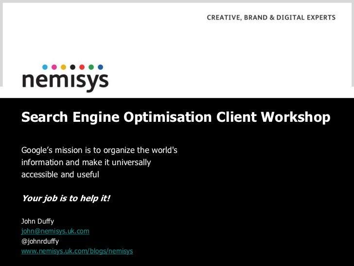 Search engine optimisation november 2010
