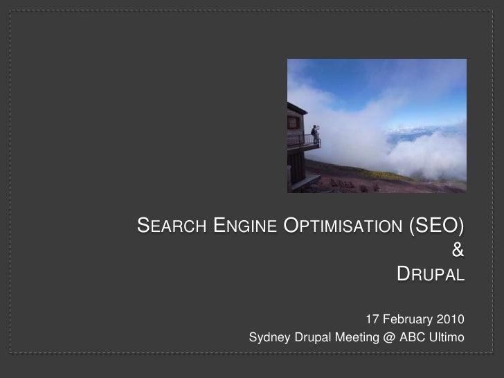 Search Engine Optimisation (SEO) for Drupal