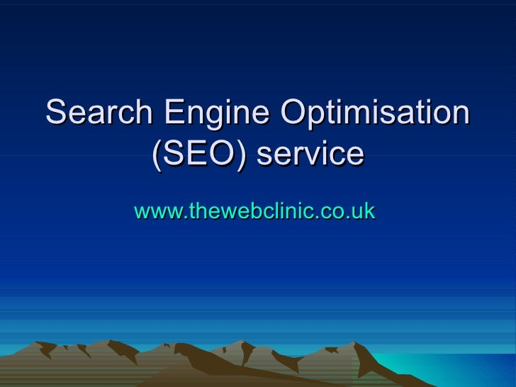 Search Engine Optimisation (SEO) service www.thewebclinic.co.uk