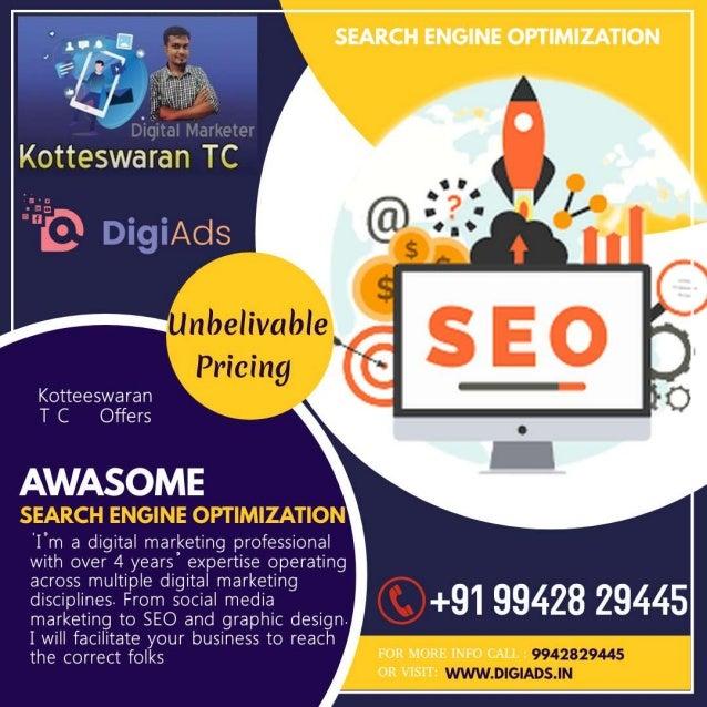Search engine optimization    kotteeswaran t c - digital marketing - digiads