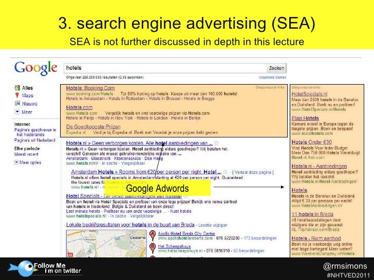Search Engine Optimization - Rob Simons at NHTV Education Day 2011 slideshare - 웹