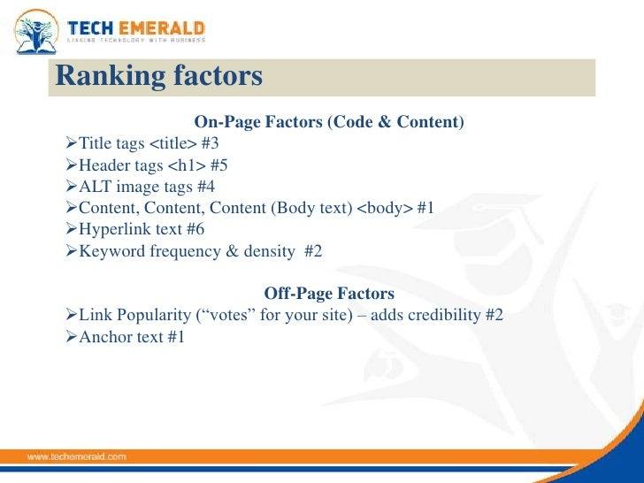 Search Engine Optimization Tutorial slideshare - 웹