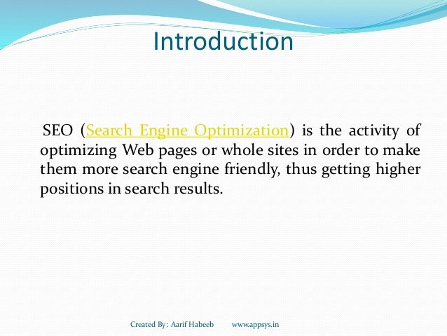 ... 3. Introduction SEO (Search Engine Optimization) ...